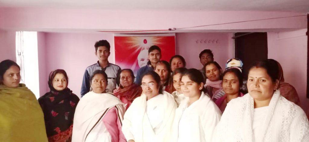 सासाराम सेवाकेंद्र के ईश्वरीय पाठशाला, नोखा में नए साल के अवसर पर मंगल मिलन का कार्यक्रम